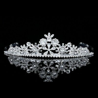 Unique Design Floral Bridal Rhinestone Crystal Prom Wedding Crown Tiara 8493