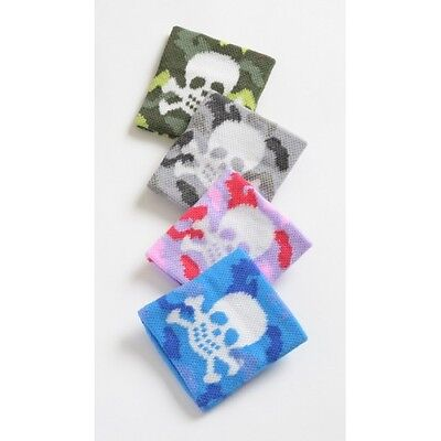 Boys/Girls Pirate Camouflage Skull & Crossbones Wristband Sweatband - Brand New