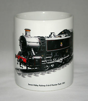 Railway Mug. Severn Valley Railway 0-6-0 Tank Engine 1501 - illustration.
