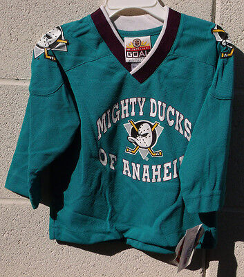 Mighty Ducks Youth Hockey Jersey Anaheim California 2T 3T 4T NWT Vintage Toddler