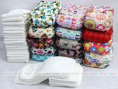 LOT U PICK New Printed TPU Diapers Nappies Reusable Washable Soft Liner Inserts