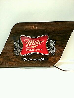 """Vintage Miller High Life """"The Champagne of Beers"""" Lighted Bar Sign"""