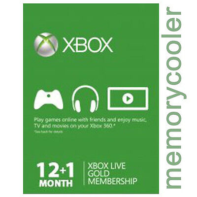 Xbox One 360 12+ 1 = 13 Month Months Live Gold Membership Code - FAST DISPATCH