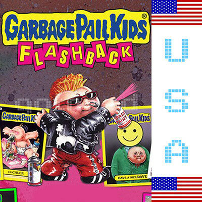 2010 USA Garbage Pail Kids FLASHBACK 1 COMPLETE Set - FB