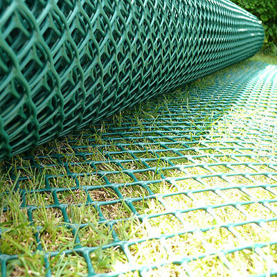 Standard Grass Turf Reinforcement Mesh Car Park Ground Protection 1m x 10m Green