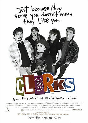 Clerks (1994) - A1/A2 Poster **BUY ANY 2 AND GET 1 FREE OFFER**
