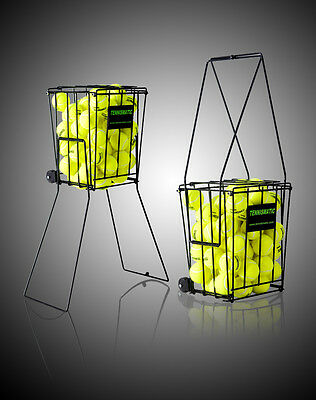 Tennis Balls Pick-Up Basket with wheels , Holds 120 Balls
