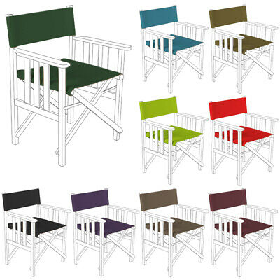 Directors Chair Replacement Waterproof Canvas Covers in 6 Colours Garden Outdoor