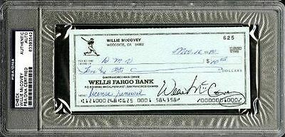 Willie McCovey San Francisco Giants Signed PSA/DNA Slabbed Check 83393542