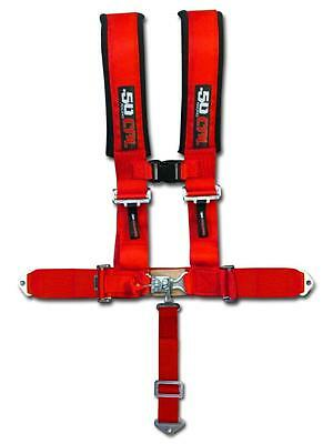NEW Red 5 Point Harness Seatbelt Race All Terrain Vehicle Off Road Track Street