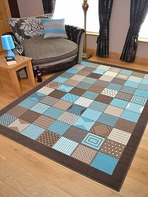Teal Blue Pattern Small Extra Large Floor Carpets Rugs Mats Long Runners Cheap