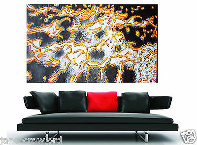 Huge Golden Reef Abstract Modern original Painting on Canvas By Jane Australia