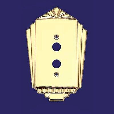 Art Deco Antique Recreated Push Button Single Gang Switch Plates Covers (L-W36)