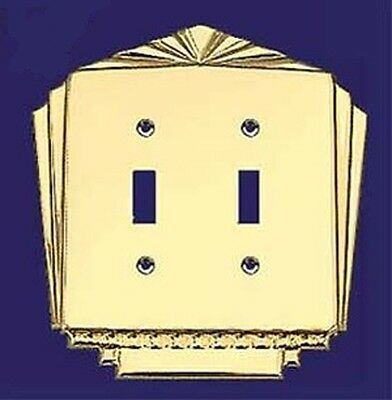 Art Deco Vintage Style Double Gang Multi Electric Switch Plates Covers (L-W38)