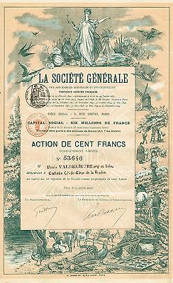 FRANCE GENERAL INSURANCE COMPANY FOR AGRICULTURE & INDUSTRY  stock certificate