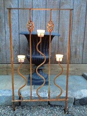 Iron (3) Tealight Candle Panel