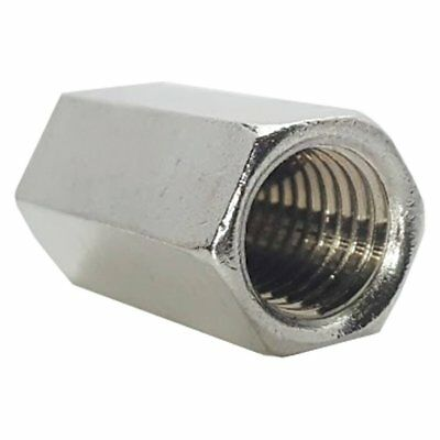 STAINLESS STEEL THREADED ROD HEX COUPLING EXTENSION NUTS 8-32 Qty 10