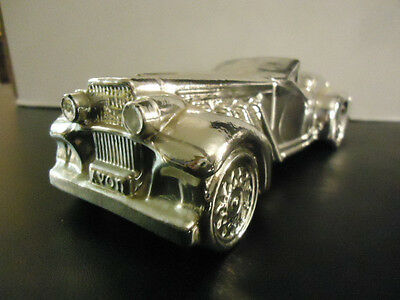 Avon Vintage Car Decanter Silver Duesenberg Wild Country Aftershave