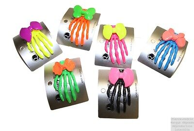 Pince Barrette Cheveux Femme Fille Main Squelette Style Monster Neuf Prix Cool !