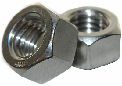 Metric Stainless Steel Finished hex nuts M5 X .8 Qty 100