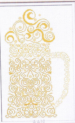 CLEARANCE - Beer - Fabulous beer stein cross stitch chart - AAN Needleworks