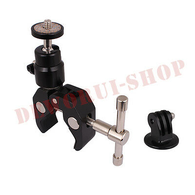 Newest Friction Clamp unit+ tripod mount for GoPro HD Hero 1 2 3 3+ 4 Camera