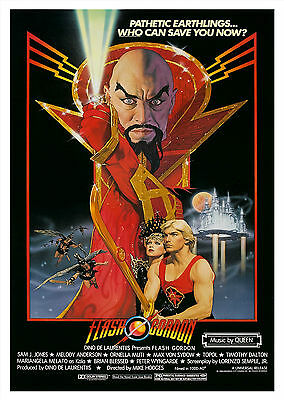 Flash Gordon (1980) - A1/A2 Poster **BUY ANY 2 AND GET 1 FREE OFFER**