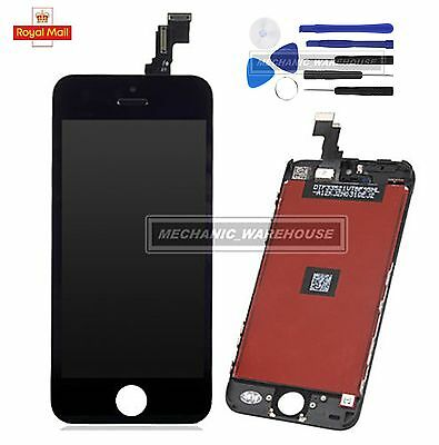 For iPhone 5C Black LCD Display Touch Screen Digitizer Assembly Replacement UK