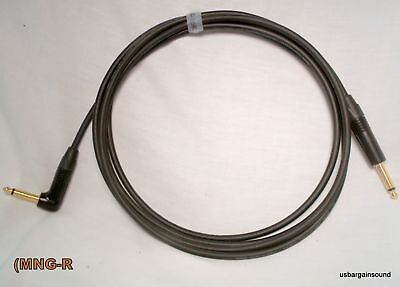 Mogami Neutrik Gold 20 Foot Guitar Instrument Cable (Rt/A to Straight)  MNG-20R