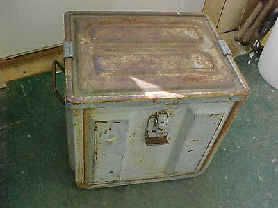 FT2 RARE Vintage Military Army ammo ammunition shell box empty metal steel