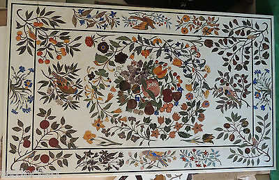 Extra Large Pietra Dura Marble Inlay Dining Table Hall Furniture Micro Mosaic