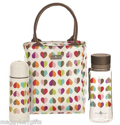 Insulated Beau & Elliott LUNCH Tote Bag - Water Bottle  Flask Cream - Quality