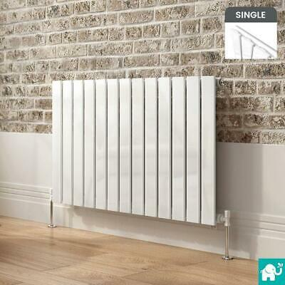Horizontal Flat Panel Radiators Modern Bathroom Chrome White Central Heated Rads
