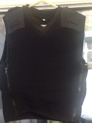 Stab Proof Security Doorman Body Armour Black S - M Kevlar Not Bullet Sweater St