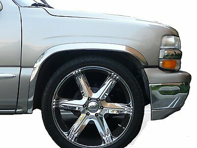 "2007-2013 Chrome Fender TRIM FITS Cadillac Escalade /& GMC TFP Product /""NEW/"" SET"