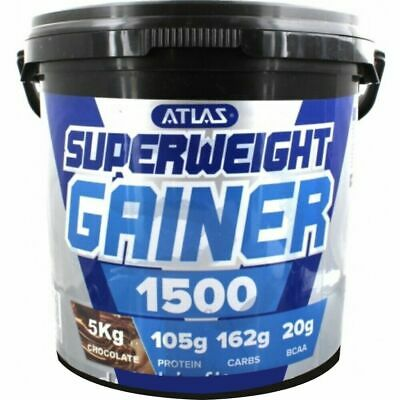 Atlas Superweight Serious Gainer Mass Weight Gain Muscle - 5Kg - All Flavours