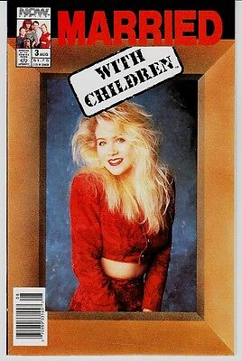 Married With Children # 3  Now Comics With Christine Applegate Photo On Cover!!