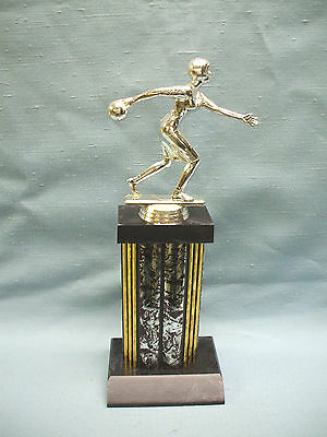 BOWLING female silver and black trophy award