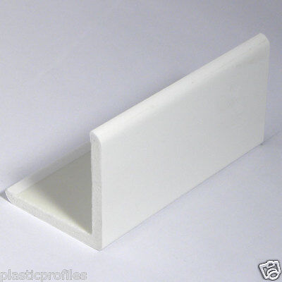 WHITE PLASTIC UPVC PVC RIGID 50mm X 50mm CORNER 90° DEGREE ANGLE 1 X 2.5m - 98""