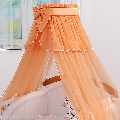 STUNNING Canopy BABY/ COT/ COTBED BIG CANOPY DRAPE 320 cm wide +  HOLDER/ ROD