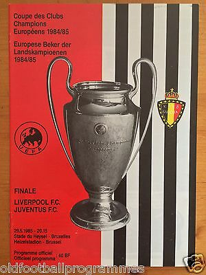 1985 European Cup Final Programme *(Juventus V Liverpool)* (29/05/1985)