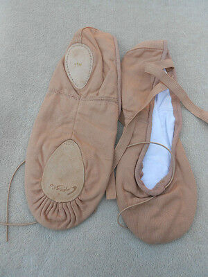 Light Suntan Canvas capezio split sole ballet shoes - adult sizes