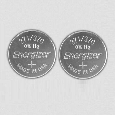 2 pcs Energizer Watch Batteries 371 / 370 SR920SW SR920W