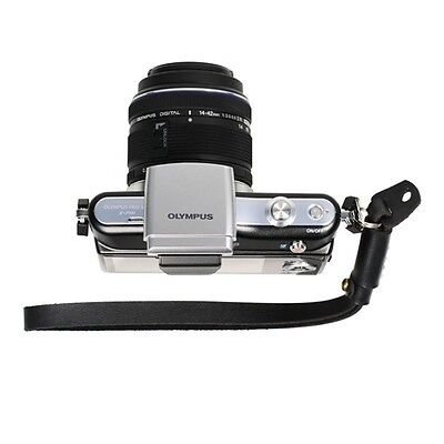 Black Genuine Leather Camera Hand Wrist Strap for Sony Leica Canon Nikon Olympus