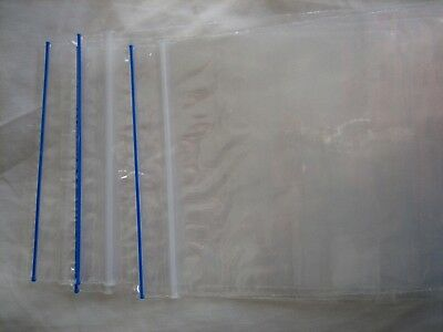 """zip snap clip lock 100 resealable bags-75mm x 125mm 3""""x 5"""" BLUE ZIP extra thick"""