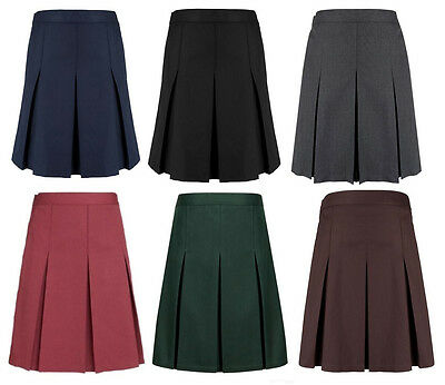 Girls School Skirt Ex High Street Grey, Black, Navy, Green & Burgundy