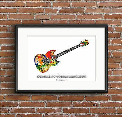 Eric Clapton's Gibson SG Fool ART POSTER A3 size