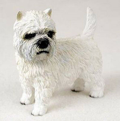 WESTIE DOG Figurine Statue Hand Painted Resin Gift Pet West Highland Terrier