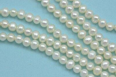3.5-4mm Ivory White Round Potato Freshwater Pearls A for Jewellery Making Craft