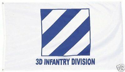 3x5 Army 4th Infantry Division Ivy Knitted Nylon Premium Flag 3/'x5/'  Grommets